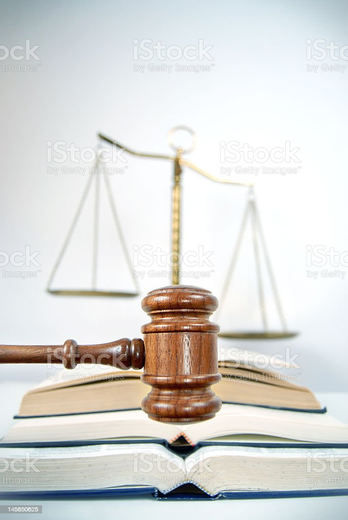 Knowledge of the law royalty-free stock photo
