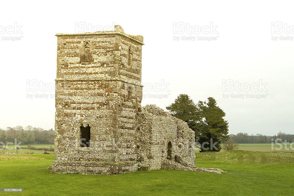 Knowlton Church, Dorset royalty-free stock photo