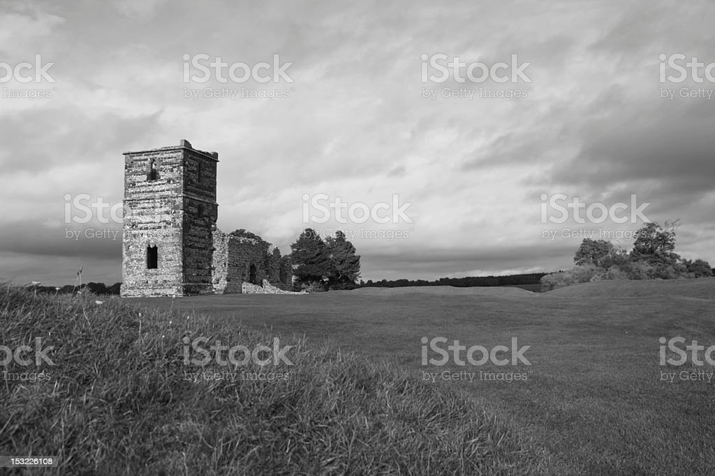 Knowlton Church Ruins stock photo