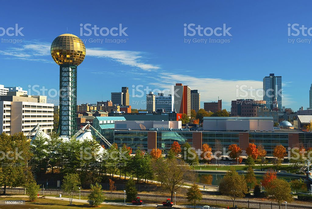 Knoxville skyline and Sunsphere royalty-free stock photo