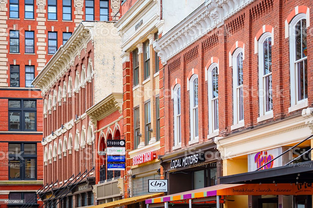 Knoxville Tennessee Downtown Market Square Ornate Architecture stock photo