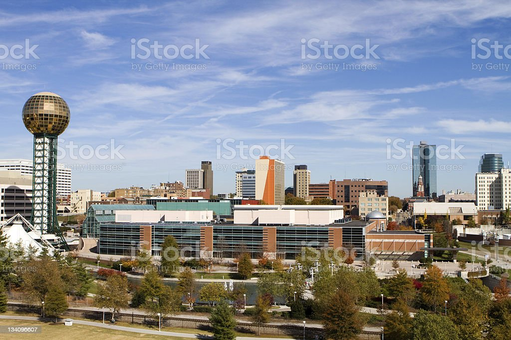 Knoxville Tennessee Skyline stock photo
