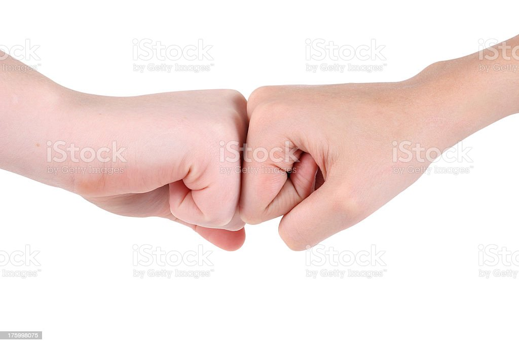 Knuckle Me royalty-free stock photo