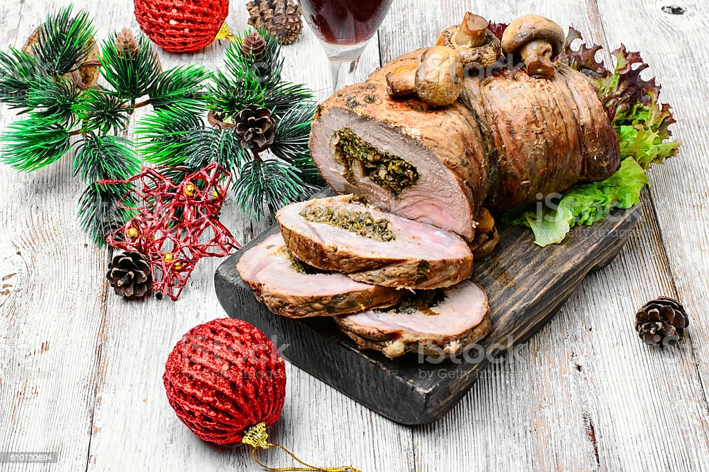 Knuckle meat for Christmas stock photo