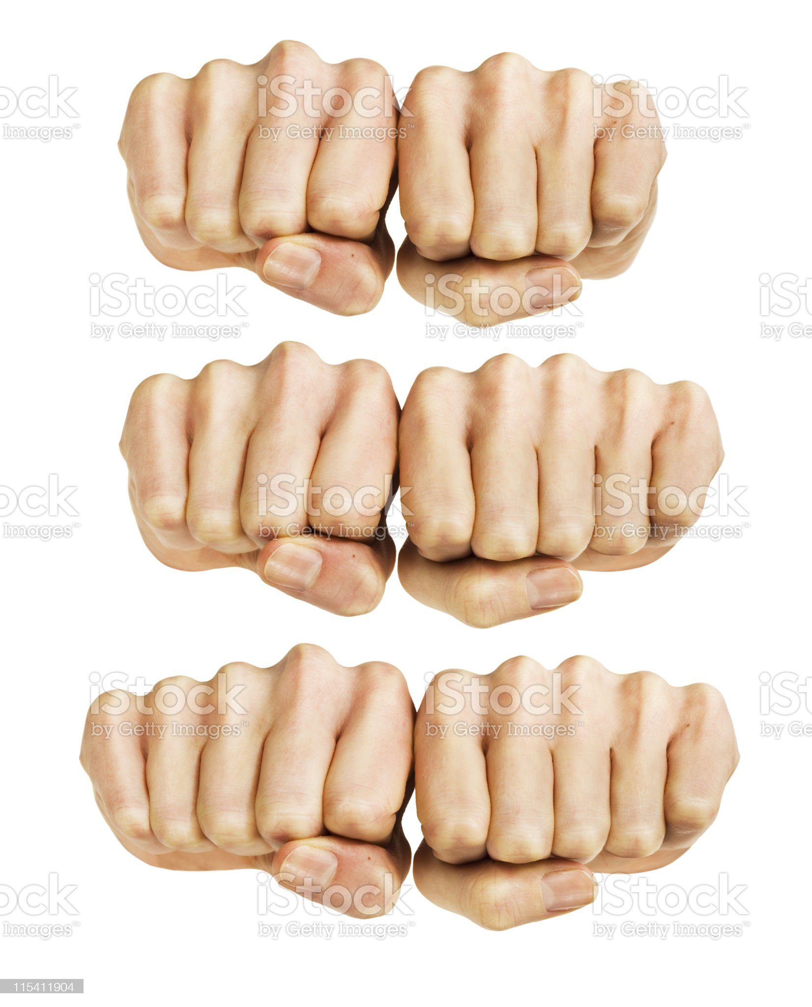 knuckles royalty-free stock photo