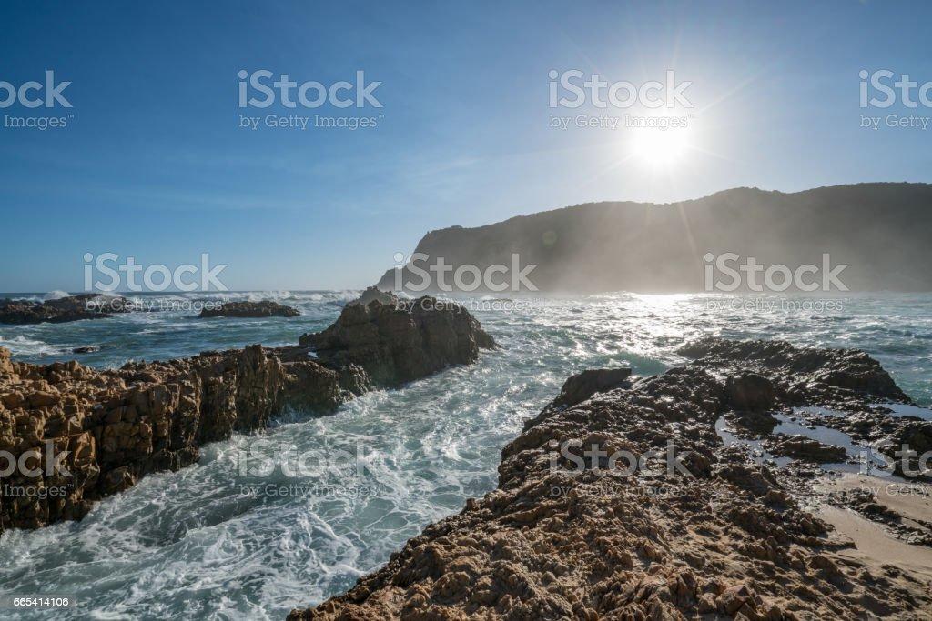 Knysna heads, South Africa stock photo