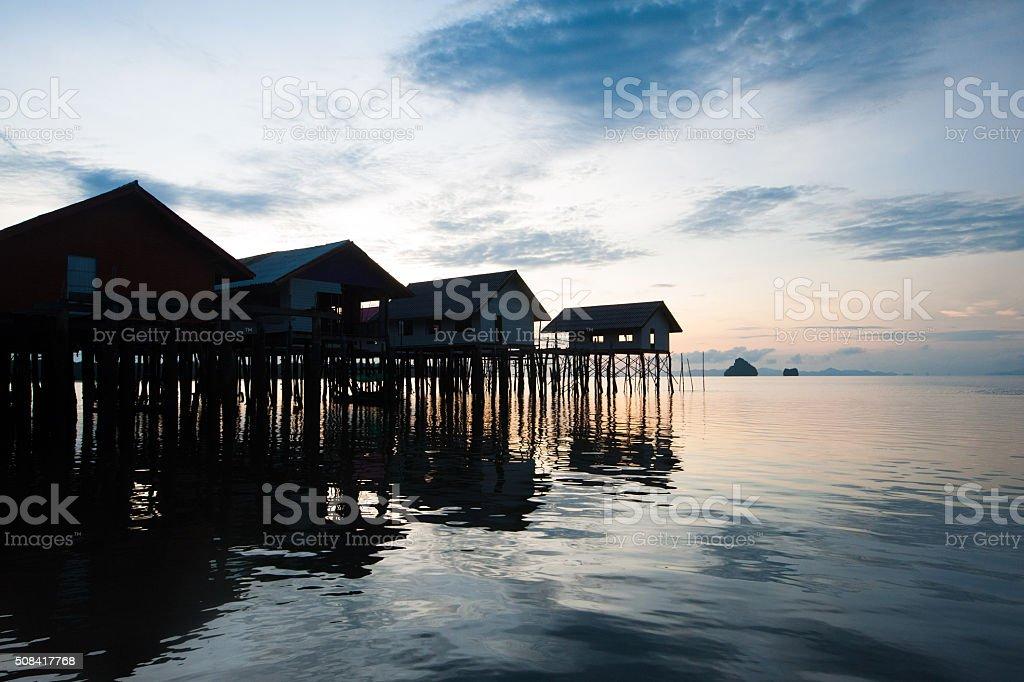 Ko Panyee muslim fishing village stock photo