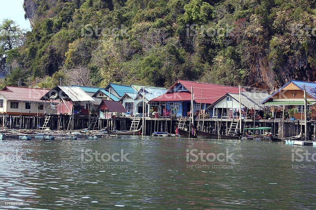 Ko Panyi village, Phang-Nga bay - Thailand royalty-free stock photo