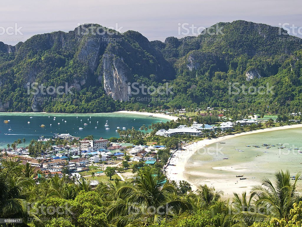 Ko Phi-Phi island in Thailand stock photo