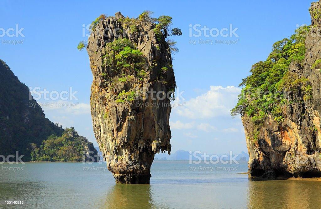 Ko Tapu in Phang Nga stock photo