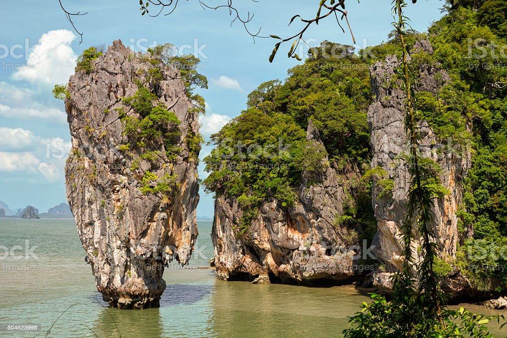 Ko Tapu rock on James Bond Island, Phang Nga Bay stock photo