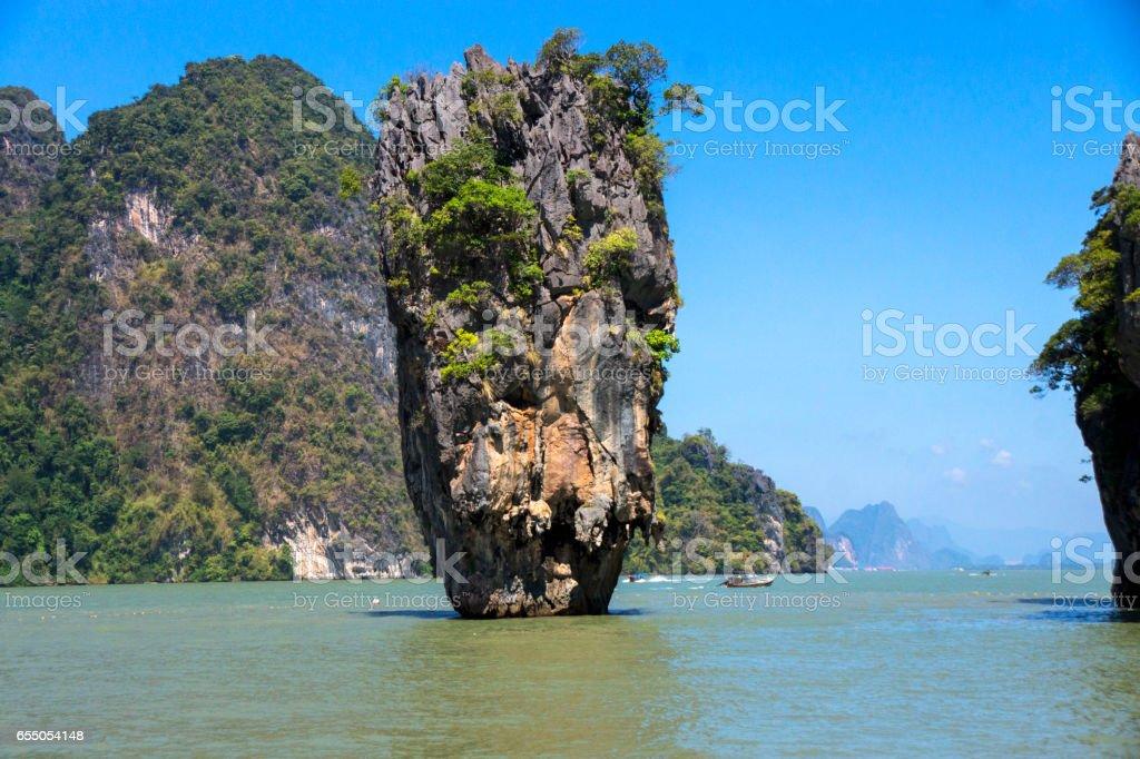Ko Tapu Rock stock photo