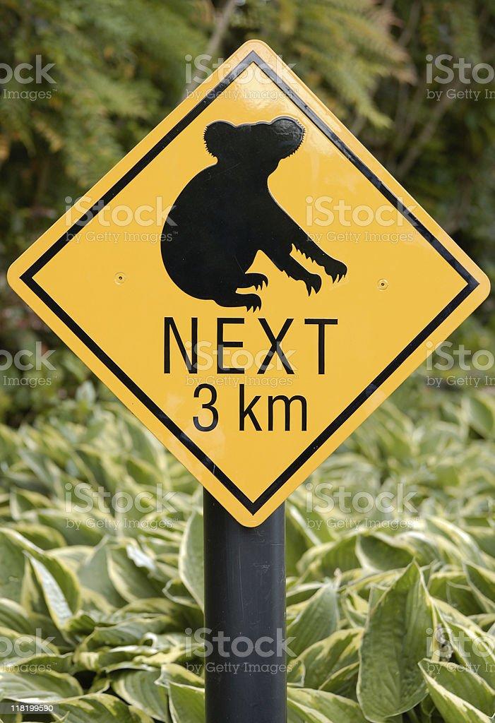 Koala Road Sign royalty-free stock photo