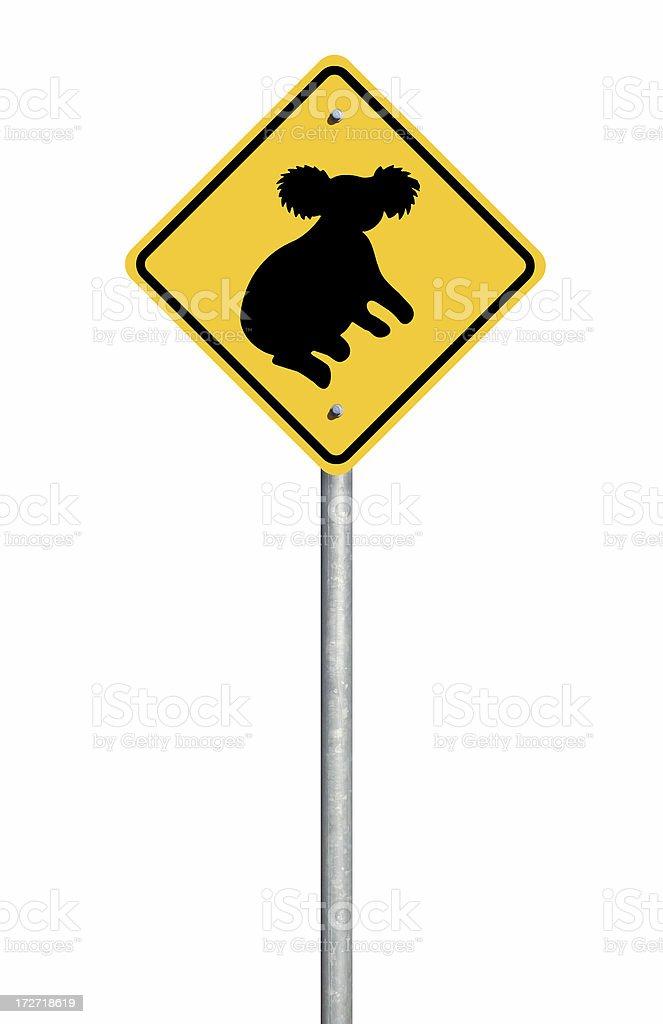 Koala Sign royalty-free stock photo