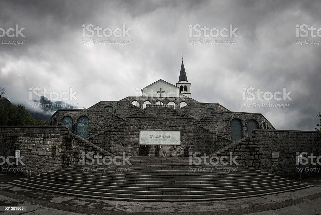 Kobarid Monument in Slovenia stock photo