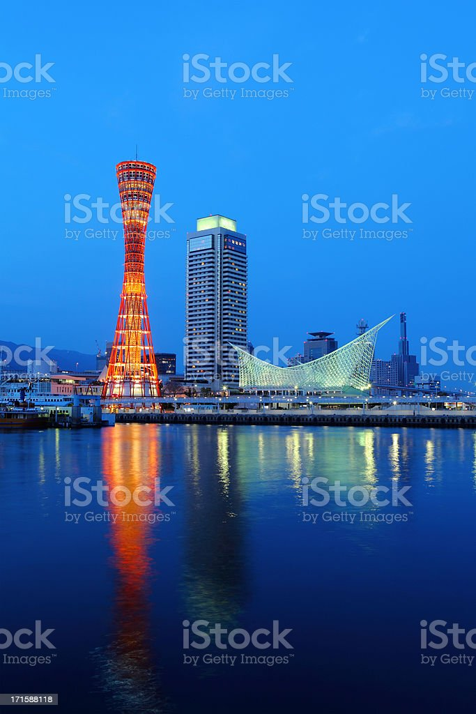 Kobe Harbor , Japan at night royalty-free stock photo