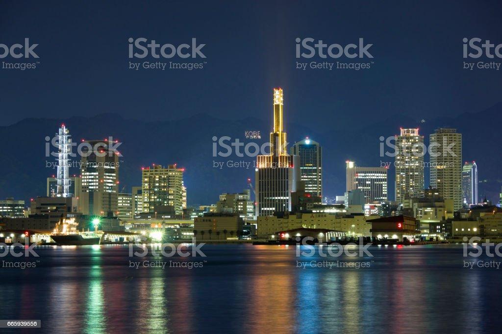 Kobe's streets stock photo