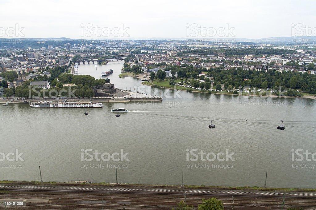 Koblenz, Germany royalty-free stock photo