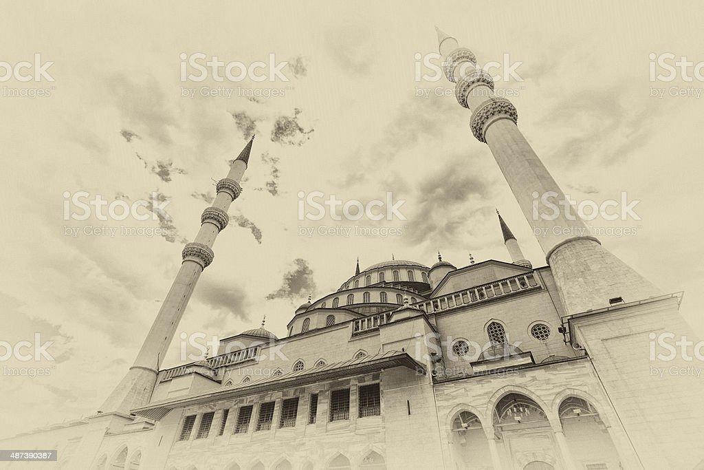 Kocatepe Mosque in Ankara, Turkey stock photo