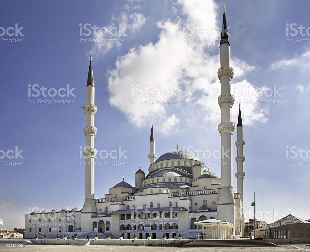 Kocatepe Mosque in Ankara. Turkey stock photo