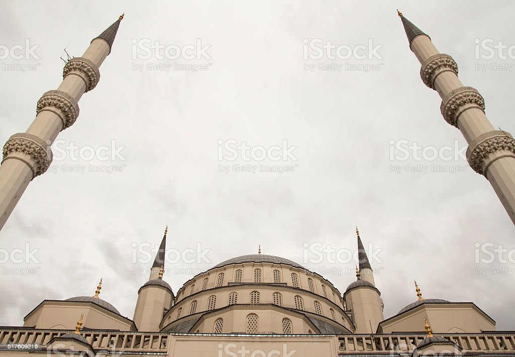 kocatepe mosque in Turkey stock photo