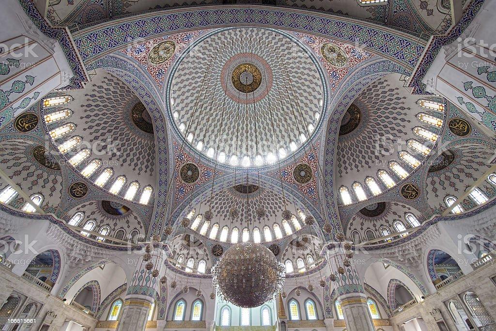Kocatepe Mosque Interior royalty-free stock photo