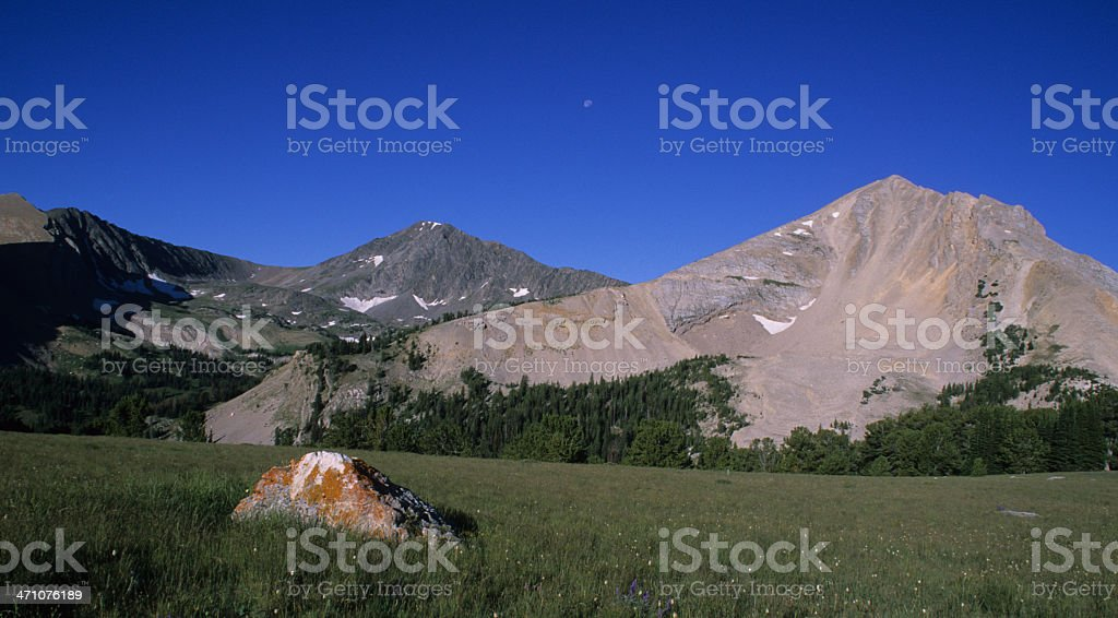 Koch Peak and Basin in the Lee Metcalf Wilderness, Montana stock photo