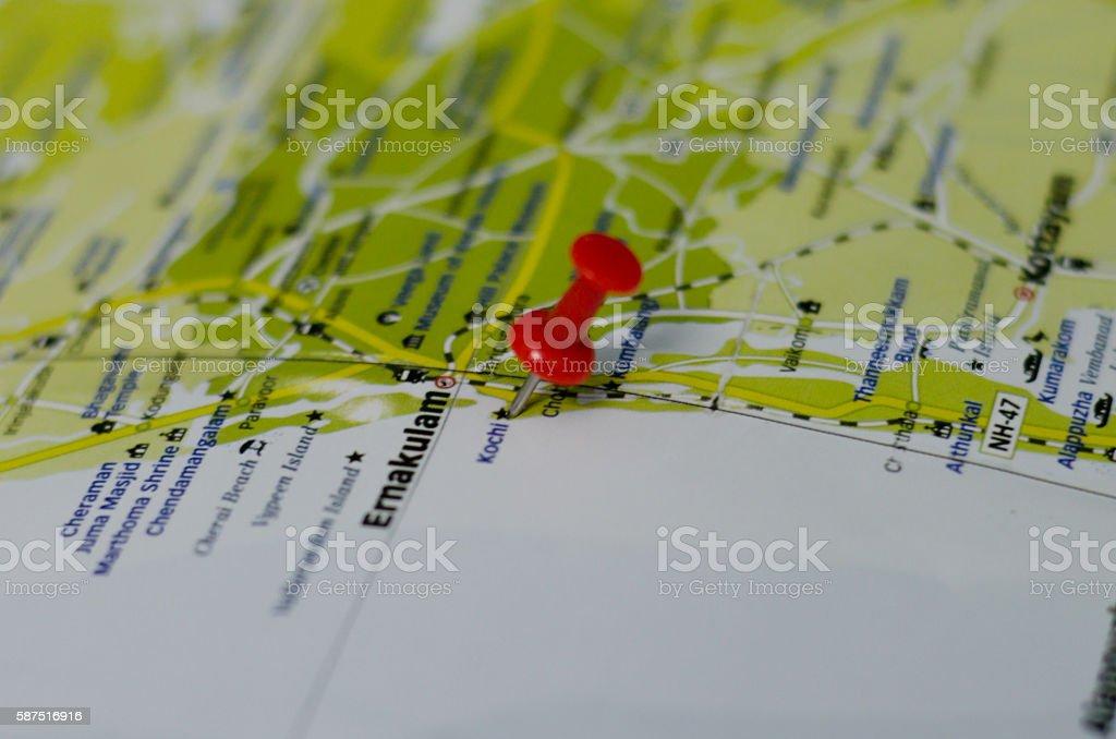 Kochi map stock photo