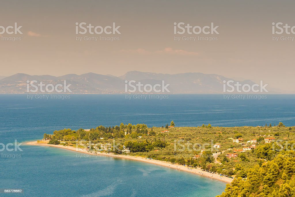 Kochili beach (Spiada) at north Evia. stock photo