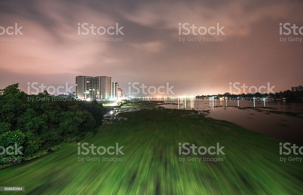 Kochin Marine drive at night stock photo