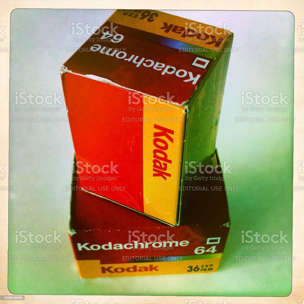 Kodachrome 64 film packs stock photo