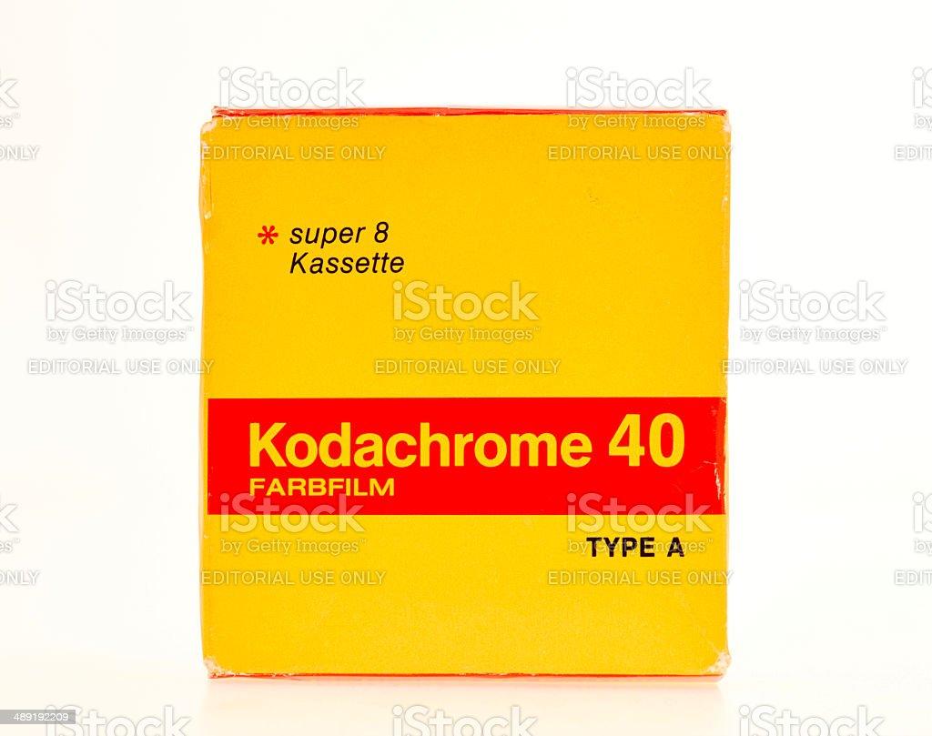 Kodachrome Film pack from 1975 stock photo