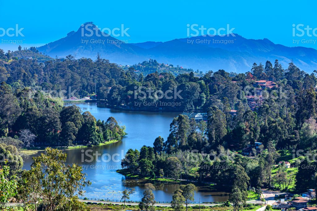 Kodaikanal Lake in Tamil Nadu, India stock photo