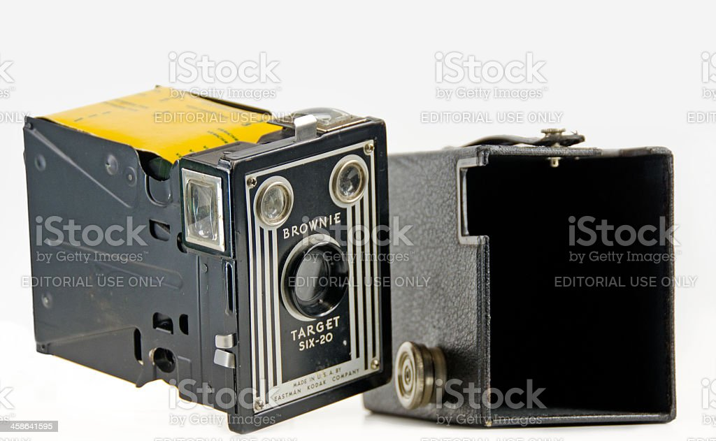 Kodak Box Camera Opened royalty-free stock photo