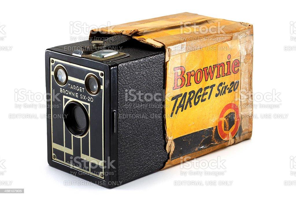 Kodak Brownie Box Camera stock photo