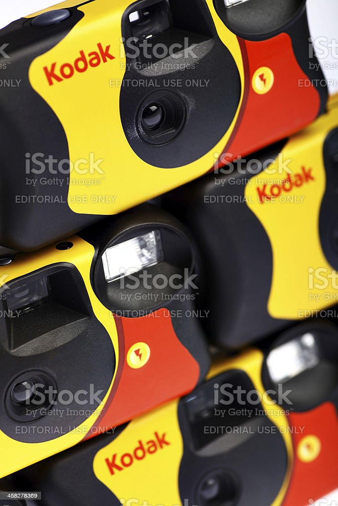 Kodak disposable camera royalty-free stock photo