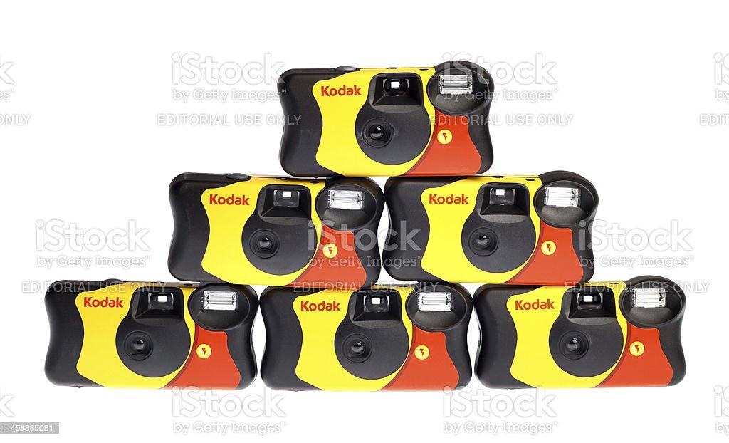 Kodak disposable camera royalty-free stock photo
