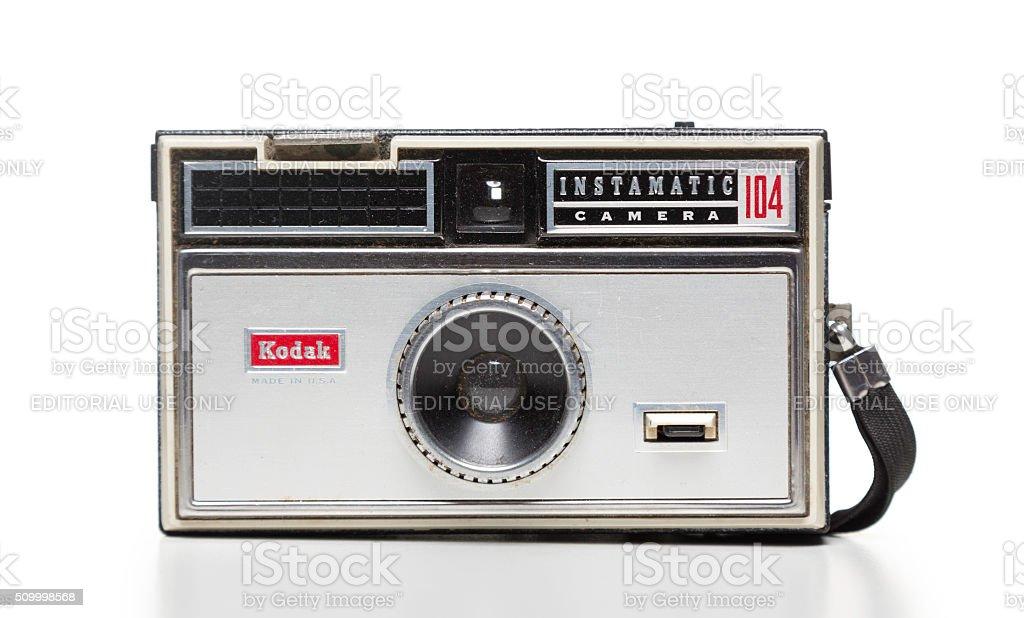 Kodak instamatic camera stock photo