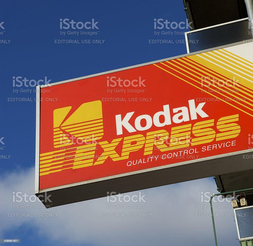 Kodak Sign stock photo