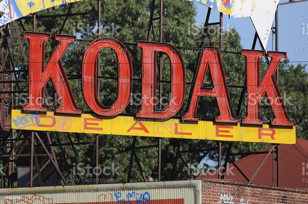 Kodak sign with graffiti royalty-free stock photo