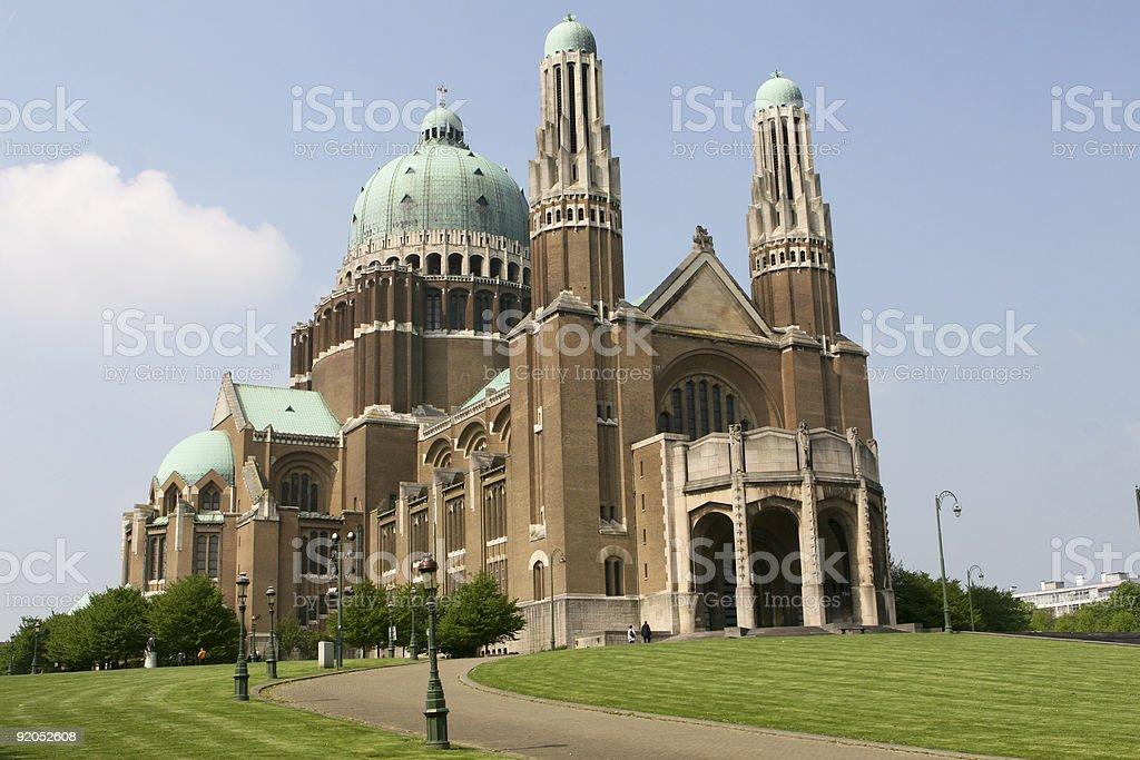 Koekelberg basilica in Brussels royalty-free stock photo