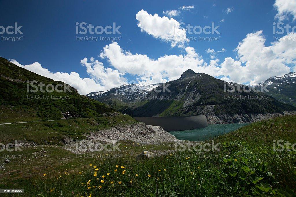 Koelnbrein Dam, Carinthia, Austria stock photo