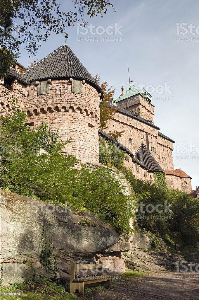Koenigsburg Castle - Alsace, France royalty-free stock photo