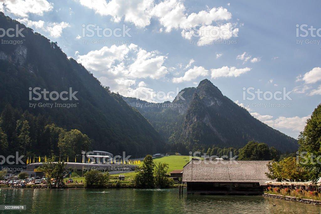 Koenigssee lake close to Berchtesgaden, Germany, 2015 stock photo