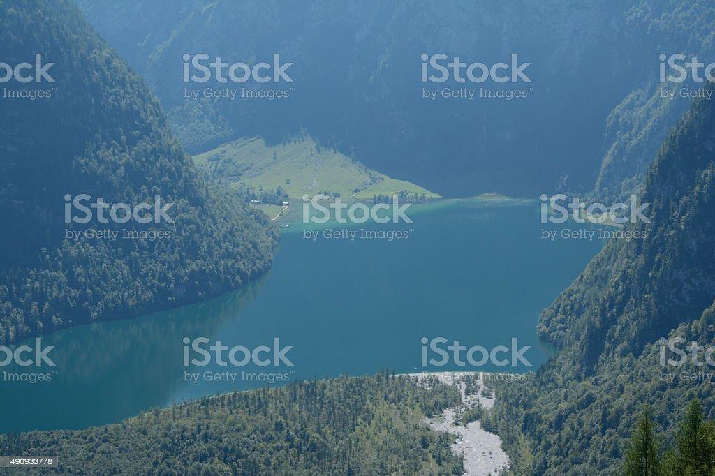 Koenigssee lake stock photo