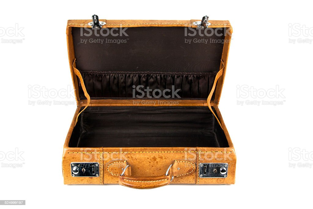 Koffer offen stock photo