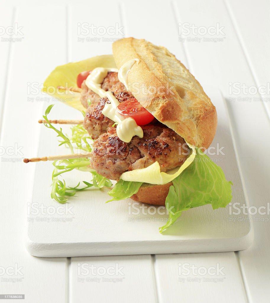 Kofta sandwich royalty-free stock photo