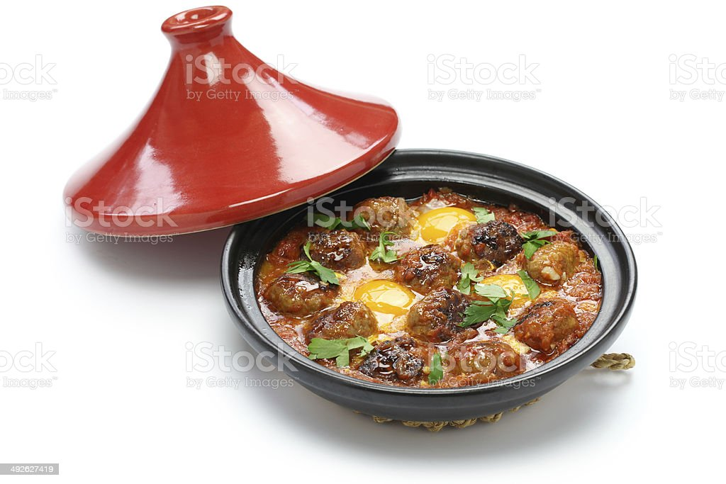 kofta tajine, kefta tagine, moroccan cuisine stock photo