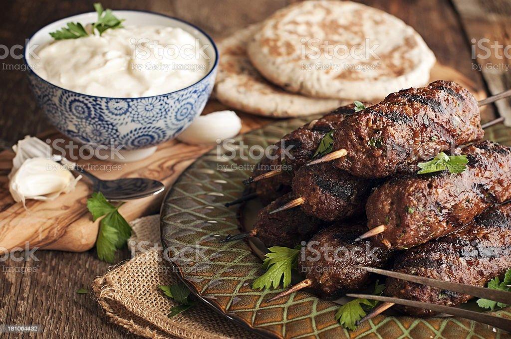 Kofte, Kofta, Middle East Lamb Kababs stock photo