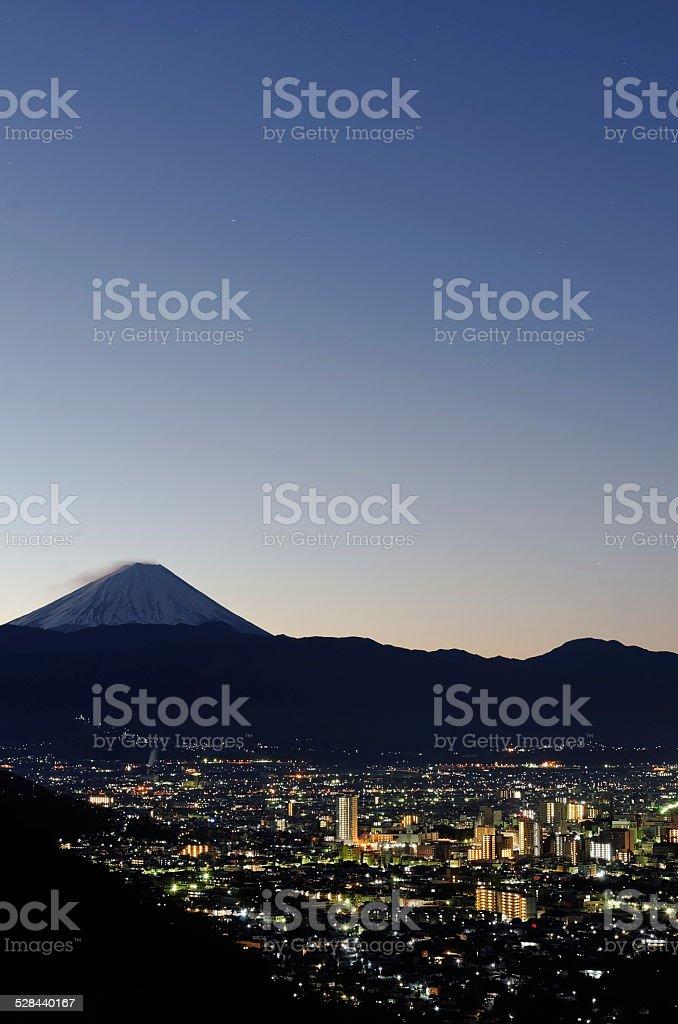Kofu City ( Yamanashi, Japan ) stock photo